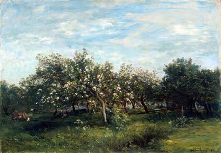 Charles-François Daubigny - Fleurs de pommier
