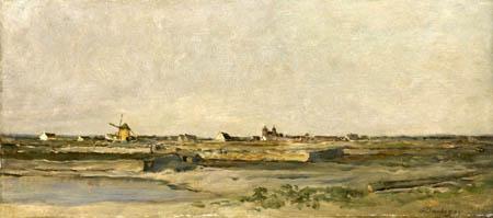 Charles-François Daubigny - Landschaft mit Mühle