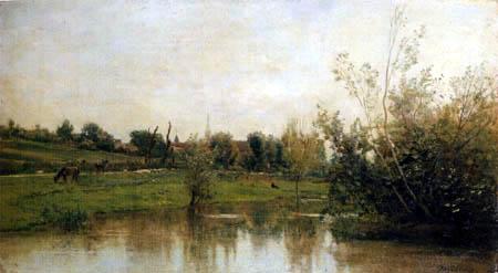 Charles-François Daubigny - Quelque part en Normandie
