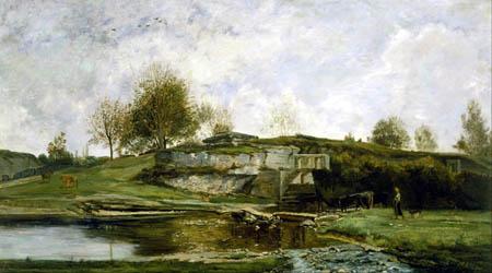 Charles-François Daubigny - La écluse dans la vallée d'Otevoz