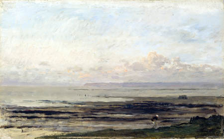 Charles-François Daubigny - Beach at Low Tide