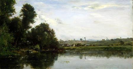 Charles-François Daubigny -  Lavandières à la rivière Oise près de Valmondois