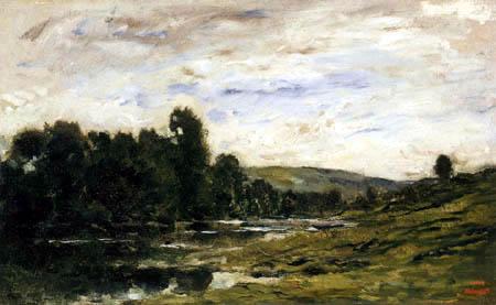 Charles-François Daubigny - Le bord de rivière