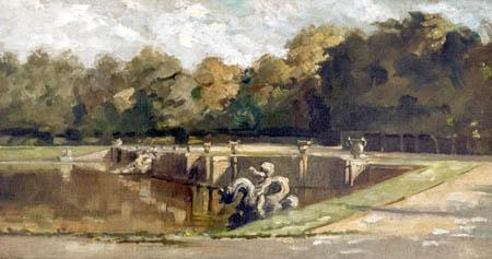 Charles-François Daubigny - Neptune Pool in Versailles