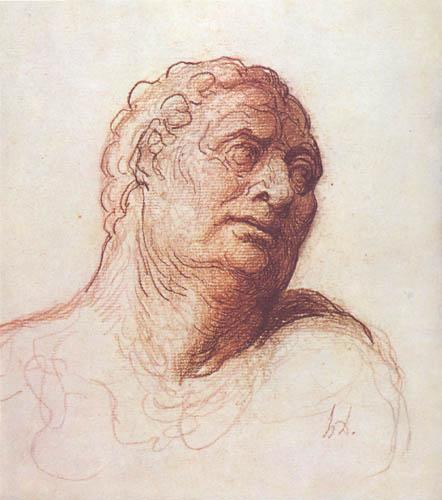 Honoré Daumier - Bildnis eines Unbekannten