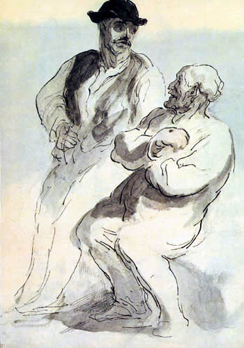 Honoré Daumier - Männerstudie