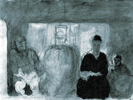 Honoré Daumier - Im Bus