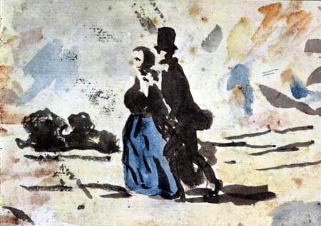 Honoré Daumier - Spaziergang