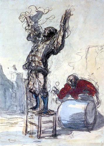 Honoré Daumier - Hanswurst