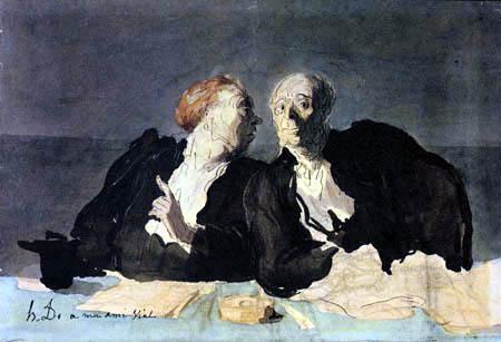 Honoré Daumier - Advokaten, Detail