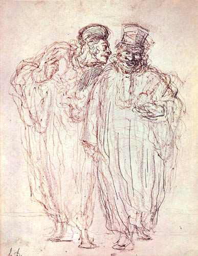 Honoré Daumier - Stehende Advokaten
