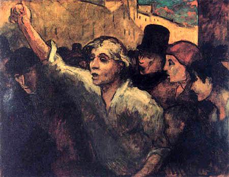Honoré Daumier - Der Aufruhr oder Die Erhebung