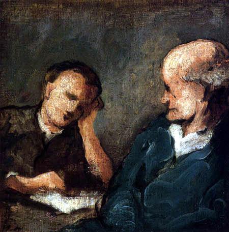 Honoré Daumier - Die Lektüre