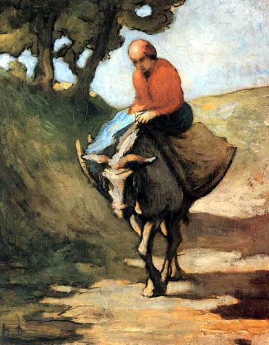 Honoré Daumier - Rückkehr vom Markt