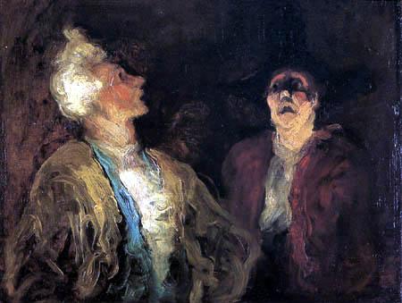 Honoré Daumier - Zwei Schauspieler