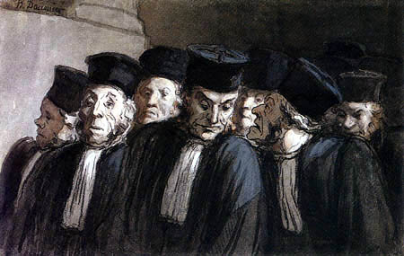 Honoré Daumier - Die Advokaten