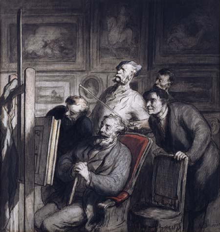 Honoré Daumier - Die Amateure