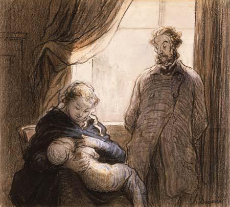 Honoré Daumier - Die Familie