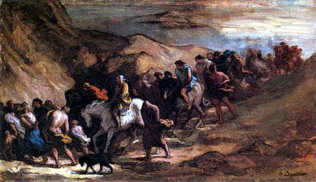 Honoré Daumier - Die Fliehenden