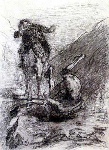 Honoré Daumier - Don Quixote and Sancho Panza