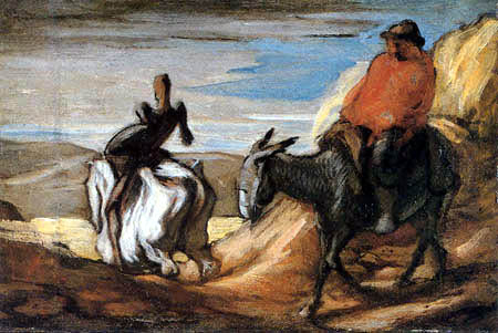 Honoré Daumier - Don Quixote and Sancho Panza