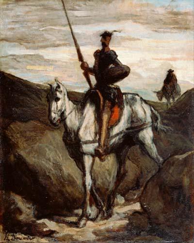 Honoré Daumier - Don Quichotte (Quijote) in den Bergen