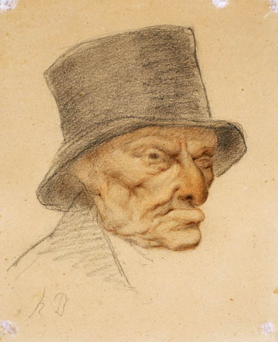 Honoré Daumier - Head of an Old Man