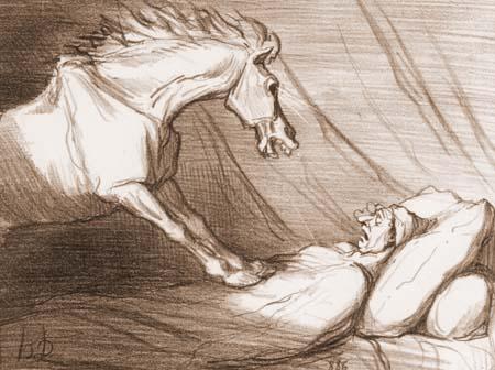 Honoré Daumier - Pferdefleisch ist gesund und bekömmlich