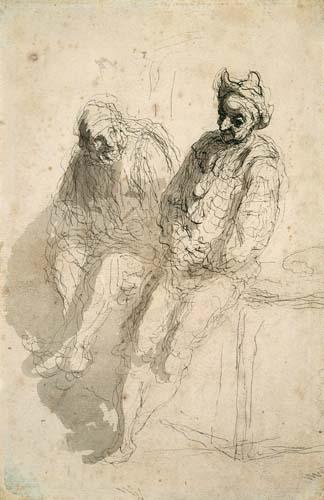 Honoré Daumier - Zwei Gaukler