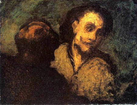 Honoré Daumier - Zwei Männerbüsten