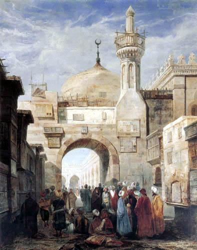 Adrien Dauzats - Al Azhar mosque, Cairo