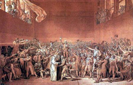 Jacques-Louis David - Der Schwur im Ballhaus