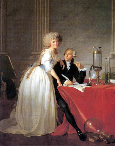 Jacques-Louis David - Antoine-Laurent Lavoisier und seine Frau