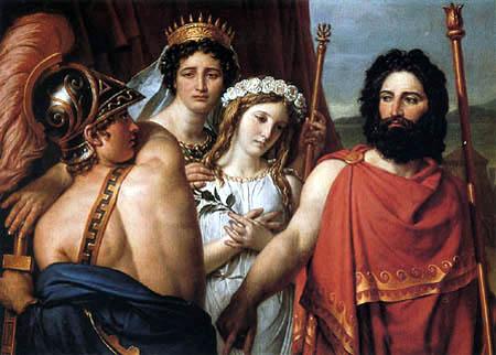 Jacques-Louis David - Empörung des Achilles über Iphigenie´s Opferung