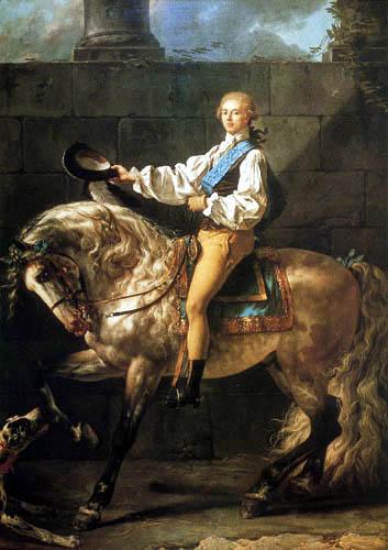 Jacques-Louis David - Bildnis des Grafen Stanislas Potocki