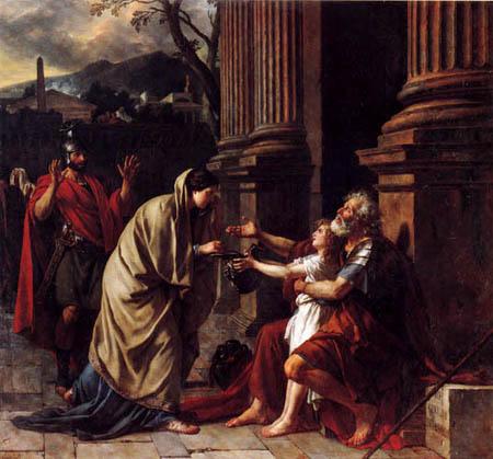 Jacques-Louis David - Belisar bittet um Almosen