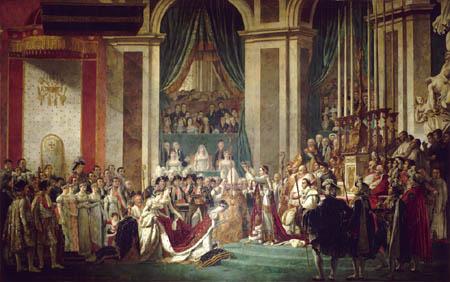 Jacques-Louis David - Napoleon krönt Kaiserin Josephine oder Die Krönung Napoleons