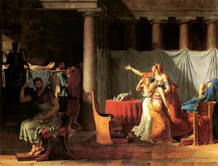 Jacques-Louis David - Die Leichen der Söhne des Brutus