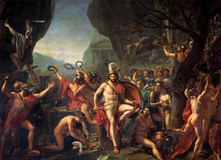 Jacques-Louis David - Leonidas an den Thermopylen