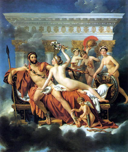 Jacques-Louis David - Mars Disarmed by Venus and the Graces