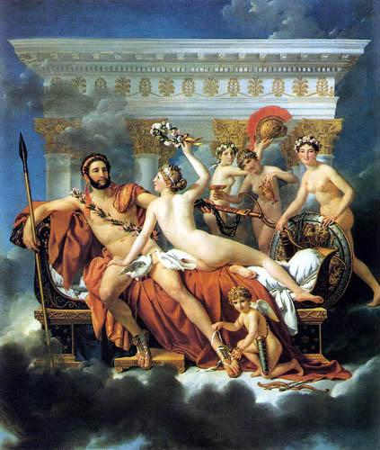 Jacques-Louis David - Mars wird von Venus und den Grazien entwaffnet