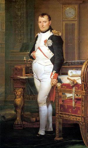 Jacques-Louis David - Napoleon in seinem Arbeitszimmer