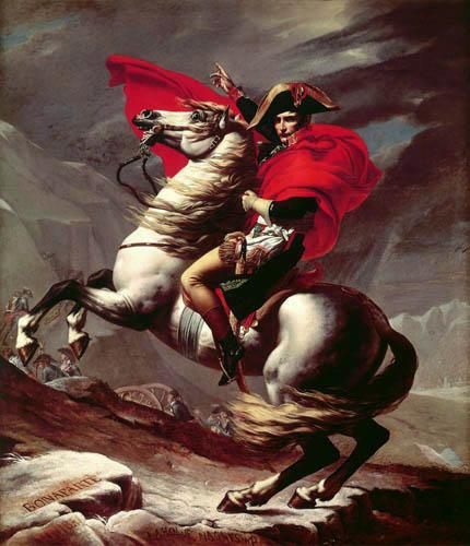 Jacques-Louis David - Napoleon überquert die Alpen