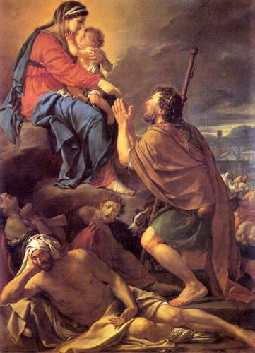 Jacques-Louis David - Der heilige Rochus vor der Jungfrau