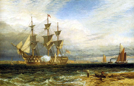 Henry Dawson - Sheerness Guardship Saluting