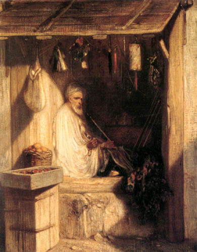 Alexandre Gabriel Decamps - Turkish Merchant Smoking