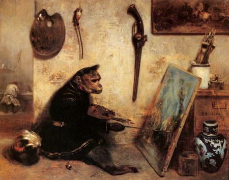 Alexandre Gabriel Decamps - The Monkey Painter