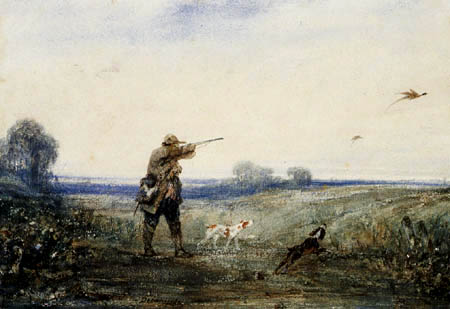 Alexandre Gabriel Decamps - Pheasant hunt