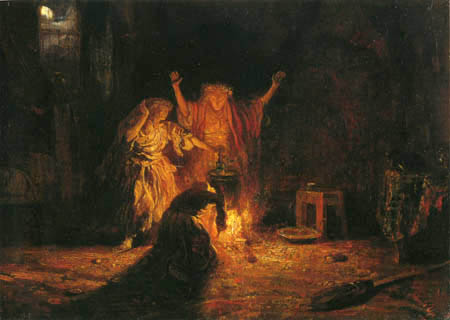 "Alexandre Gabriel Decamps - The witches in ""Macbeth"""