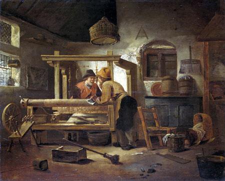 Cornelis Gerritsz. Decker - Weverswerkplaats